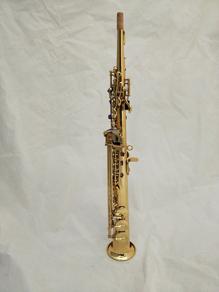 high quality soprano Saxophone 475 BB Electrophoresis Gold Soprano Sax Musical Instruments professional grade & Case mouthpiece free shippin