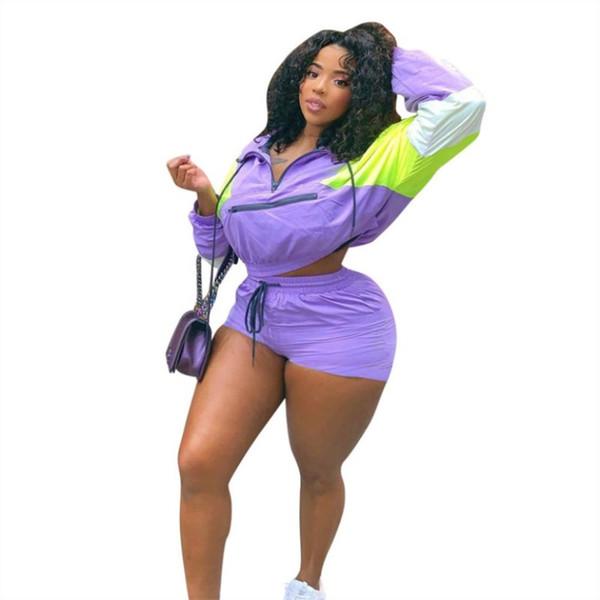 Womens outfits long sleeve tracksuit two piece set jogging sportsuit shirt short leggings outfits sweatshirt pants sport suit klw1101