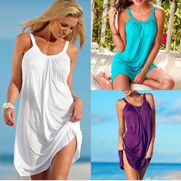 Slip dress Loose dress Summer dresses Beach dresses Purecolor Women clothing Sundress Chinawomenclothingmanufacturer Hot selling