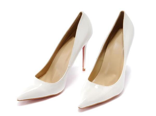 2019 {Original Box} zapatos de diseñador de lujo para mujer tacones bajos de fondo rojo Nude negro rojo Piel en punta Bombas zapatos de vestir