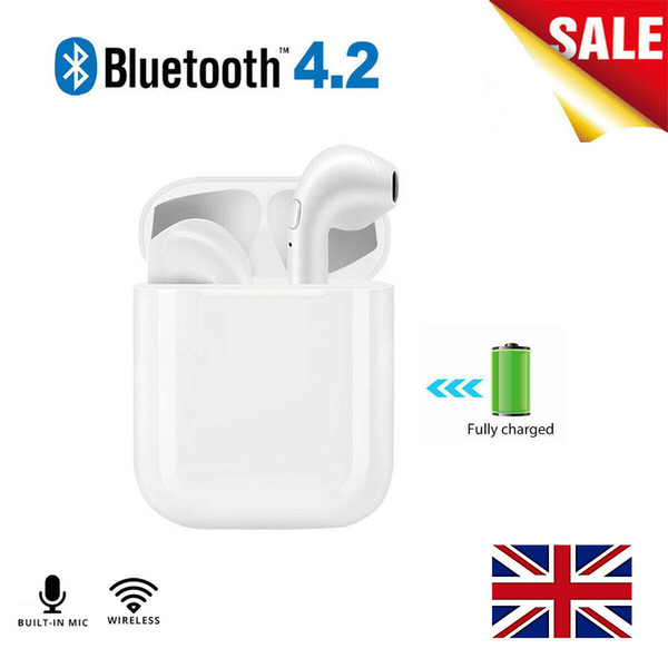 I9S TWS Twins Wireless In-Ear Earphone Bluetooth Stereo Headset w/Charging Bank With Retail Box