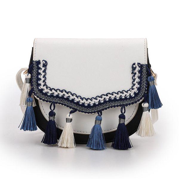 good quality Fashion Leather Saddle Shoulder Bag Women Pu Leather Female Messenger Bag With Tassel Crossbody Bag Lady