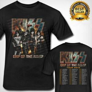 Kiss faixa final da turnê estrada 2019 t-shirt blaFashion S-3XL roupas masculinas