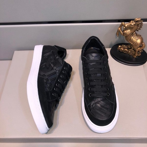 2019a printemps et en été nouveaux baskets sauvages pour hommes occasionnels chaussures bas pour aider les chaussures de course confortables chaussures respirantes, emballage d'origine