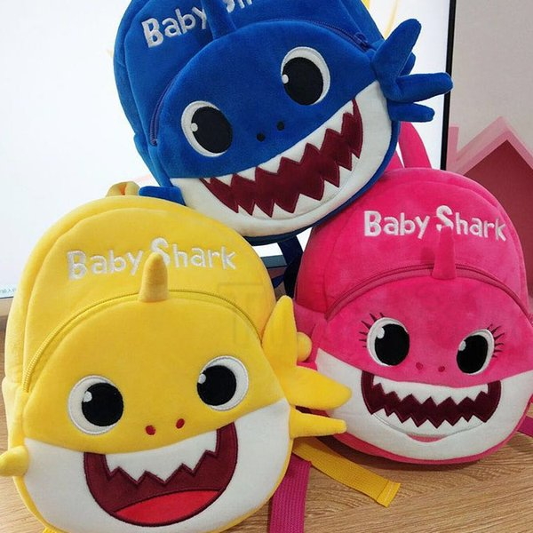 fashionable unisex shark baby soft backpack pink schoolbag girl boy schoolbag child backpack birthday Party Favor T2D5019