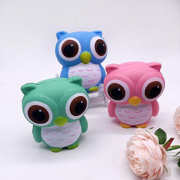 Squishy 12cm Hibou Jumbo squeeze Oiseau animal mignon doux hausse lente courroie de téléphone squeeze Break Enfants Toy Fun cadeau soulager l'anxiété