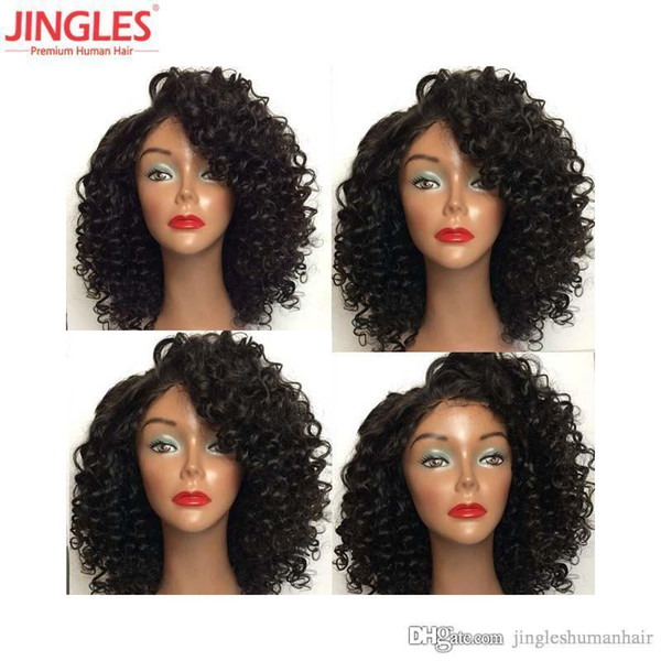 9A Brazilian Human hair lace front wigs cuticle aligned Virgin Remy Human Hair wigs 4x4 Lace front Wigs afro Kinky Curly wholesales cheap
