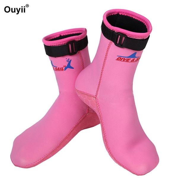 3 мм нескользящие носки для дайвинга женщины мужчины неопрен теплые сапоги подводное плавание серфинг йога носки плавники ласты водные виды спорта носки обувь