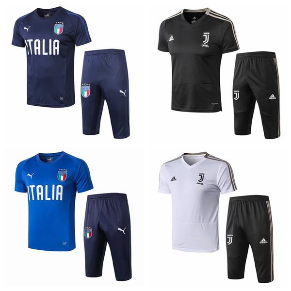 19-20 New Italy Paris Marseille FC AC Milan Juventuus Short Sleeve survetement football Training suit sportswear Maillot de foot #9561