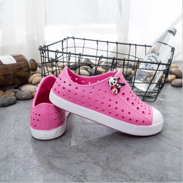New Summer Enfants Ados Natif Jefferson Beach Chaussures Sandales Mode Couples Trou Chaussures Marque Garçons Filles Natif Enfants Chaussures 16 couleurs # 129