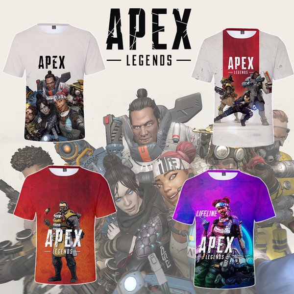 22styles Apex Legends T-shirt Short Sleeves Tee Shirt Tops cartoon 3d printed T-shirt home casual clothes FFA1694