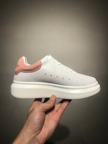 2019 Winter 3M reflective Triple white leather outdoor shoes girls women pink gold red comfortable flat sneakers Party Wedding shoes 35-44