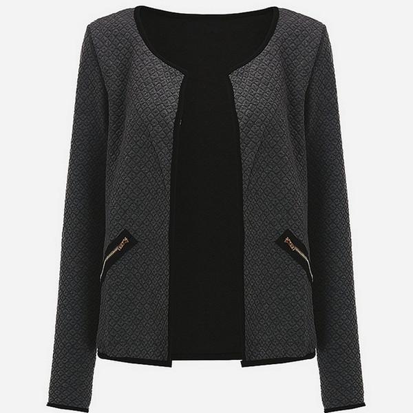 EXOTAO Blazer Женщина костюм весна осень куртка с длинными рукавами вокруг шеи пальто Женщины мода Z дизайн Cr Co Управление леди