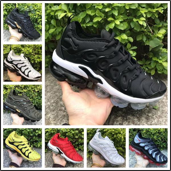 2020 en gros air de haute qualité arc-en-plein Noir whitered TN Nike vapormax AIR MAX men women  Les femmes hommes Run Chaussures de sport Chaussures de sport taille casual  36-45
