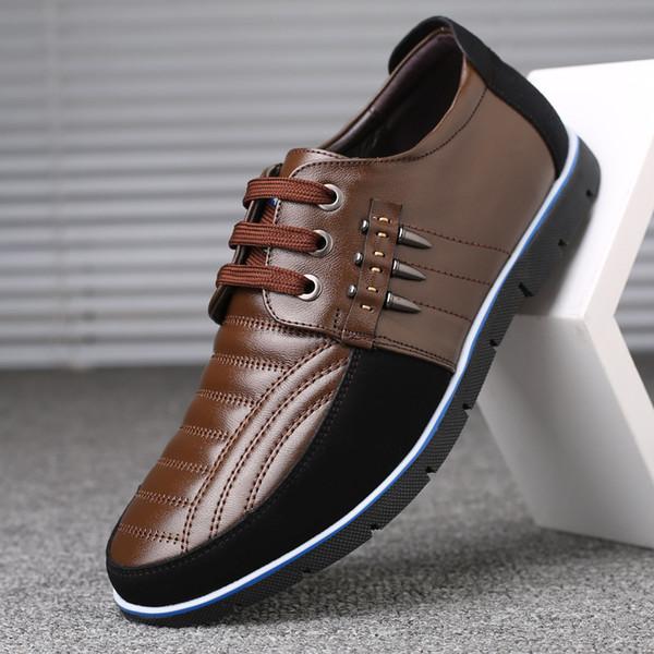 Мужская обувь из натуральной кожи высокое качество Эластичная лента дизайн одежды твердая прочность удобная Мужская обувь больших размеров ZY-251