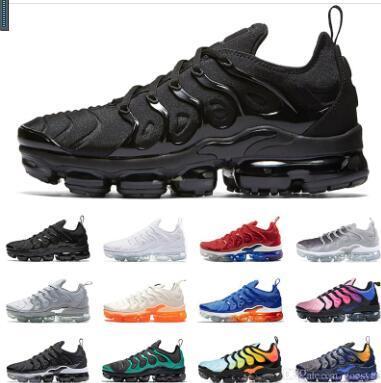 Designer 2019 Tn Plus Chaussures de course Femmes Hommes Baskets PURE PLATINUM triple noir blanc cool loup gris Chaussures tns Schuhe Baskets