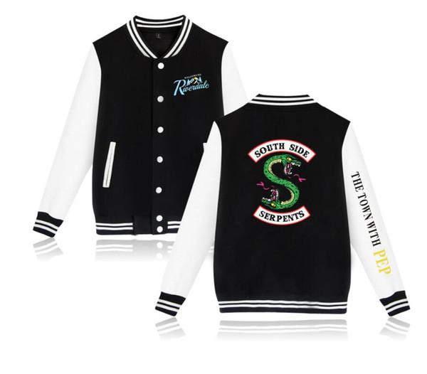 Teen boy girl shirt Riverdale TV drama double-headed snake lovers clothes fleece baseball uniform jacket men women street hip-hop costume