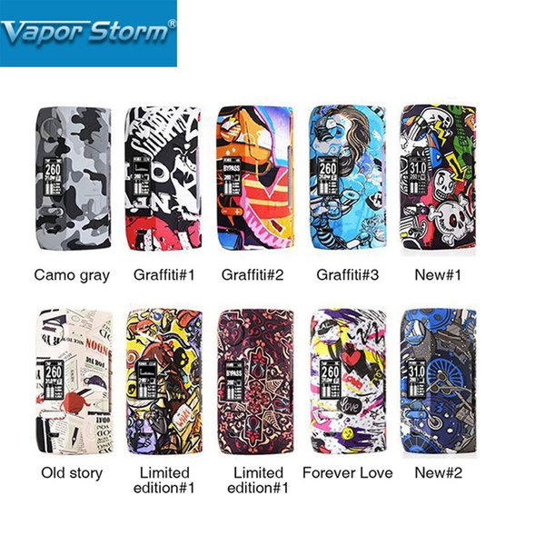 2018 Neue Vapor Storm230 TC-Box MOD 200W Einzigartiger Graffiti-Körper mit 0,96-Zoll-OLED-Display