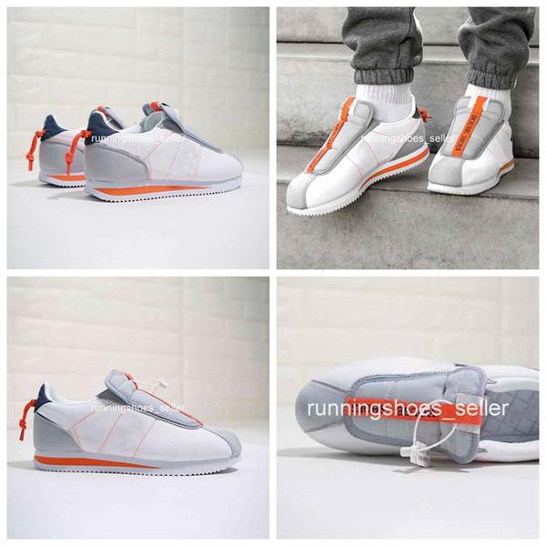 2019 nike Kendrick Lamar x Cortez Basic Kayma Kadın Erkek Koşu Ayakkabıları, ünlü Tasarımcı Atletik Spor Sneakers AV2950-100 Eur 36-44