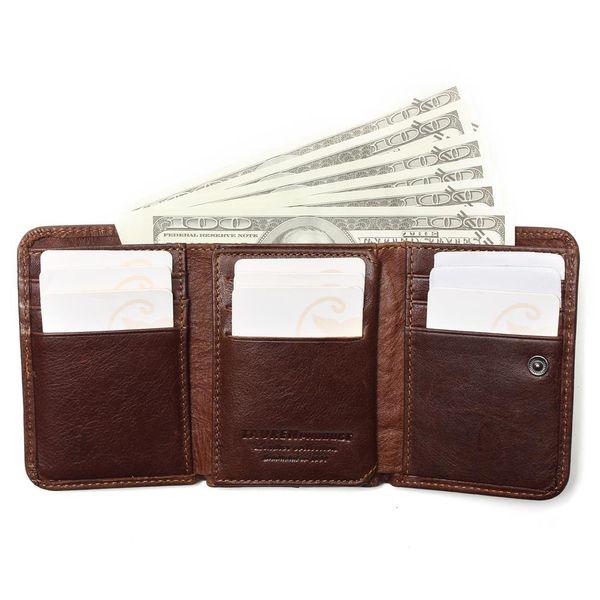 Antidiefstal Scannen Lederen Portemonnee Hasp Leisure mannen Slim Mini Wallet Case Credit Card Trifold Purse