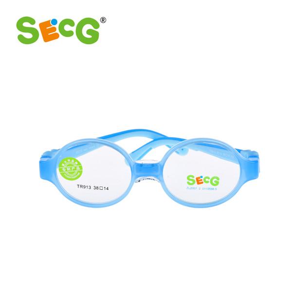 SECG Bébé Enfant En Bas Âge Mignon Rond Enfants Optique Lunettes Cadre Myopie Hyperopie Amblyopie Enfants Cadre Silicone Lunettes De Vue gafas
