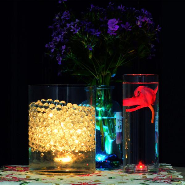 Luminescence ronde bougie lampe LED de petite taille Can échange de batteries réel Contrôle à distance lampe colorée plongée lampe bougie étanche