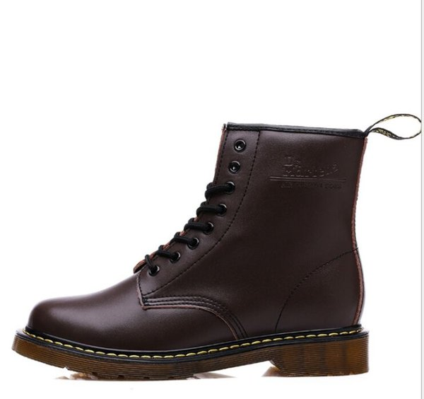 2019 Genuine Leather Men Boots Dr. Martenss Winter Ankle Snow Boots Shoes Lace Up Shoes For Women High Quality Vintage Martin Boot Snow boot