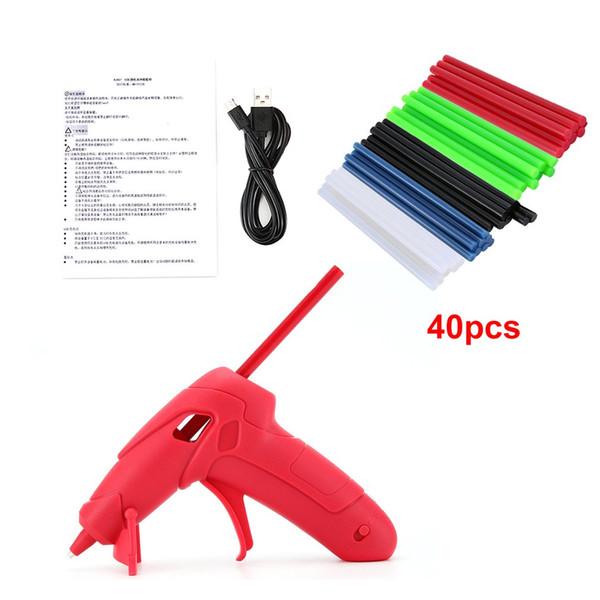 DIY El İşçiliği Tamir Araçları Elektrikli Isı Sıcaklık Guns yapıştırıcısı Stick ile 5V / 1A Tutkal Gun Şarj RJ807 USB