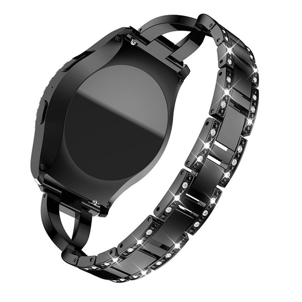 2019 Watchbands Replacement Metal Crystal Watch Strap Wrist Band for Samsung Gear S2 Classic Fashion Luxury Women Watch Belts