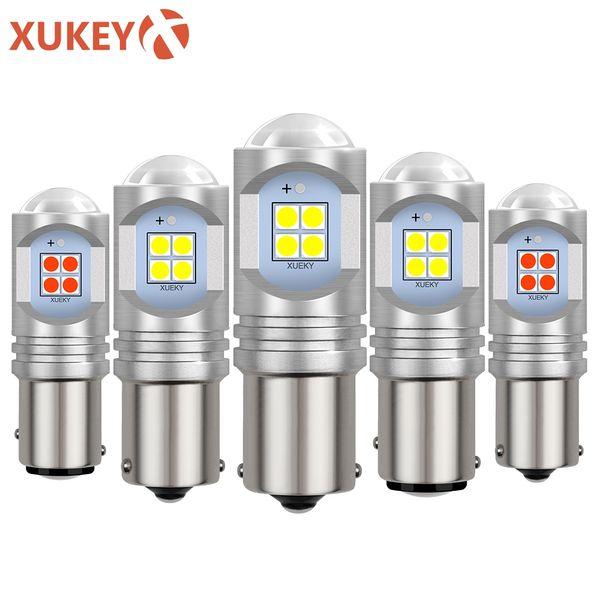 Xukey 2pcs 1156 1157 PY21W BAY15D Voiture LED Ampoules Ampoules RV Bateau De Frein Inverse De Frein DRL Feux de Signalisation Sauvegarde Lampes Stop 12-24 V 30W