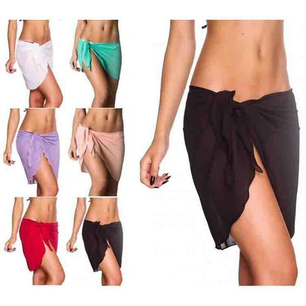 US Womens Swim Wear Bikini Cover Up Tassels Beach Wrap Skirt Sarong Pareo Shorts