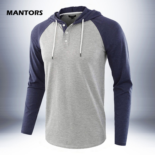 Men Cotton Hoodies Solid Pullover Sweatshirts Sports Casual Patchwork Hoody Spring Autumn Men/Women Hooded Tees Hoodie US Size