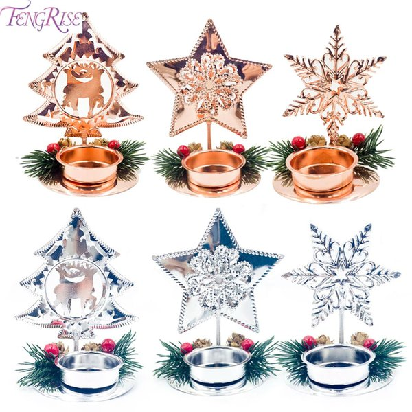 fengrise merry christmas iron candlestick christmas ornament xmas decoration for home 2019 decoration new year 2020