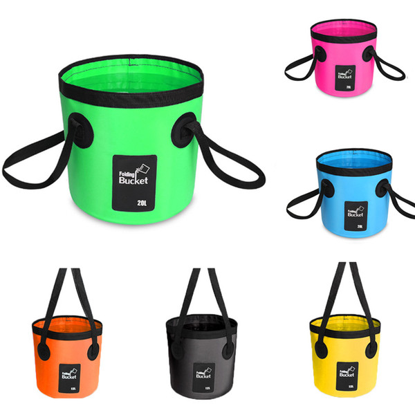 Foldable Water Bucket Car Wash Basin Camping Fishing Cleaning Lightweight Fish Outdoor Sports Wash Buckets Water Storage Box Container M238Y