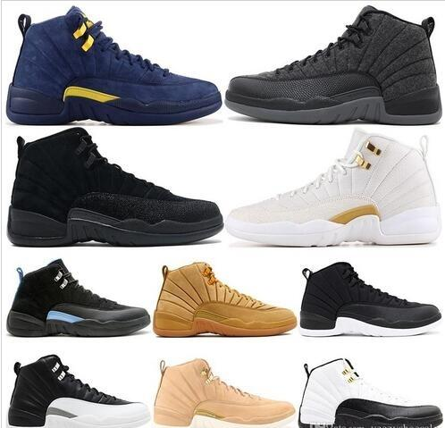 CNY Winterized 12 XII 12s Mens Basketball Shoes Paris Bordeaux Gym Red Flu Game Wolf Grey Athletic Sports Sneakers 40-47