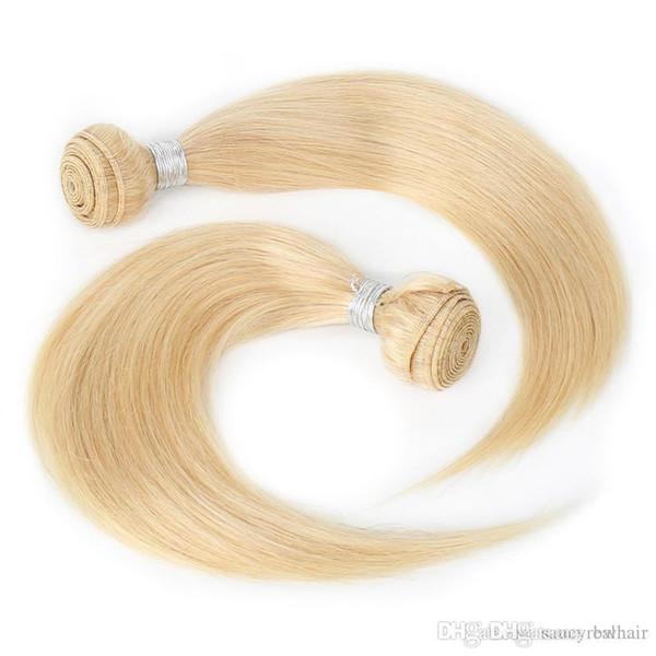 Дешевые Лучшие Качества Светлые Пучки Цвета # 613 Прямые Волосы 120Gr одна часть 3 Шт. Лот Бразильский Перуанский Малайзии Индийский Уток 10-26 дюймов