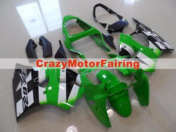 Nuevos kits de carenado de ABS para Kawasaki Ninja ZX6R 6R 636 2000 2001 2002 Cool verde blanco negro