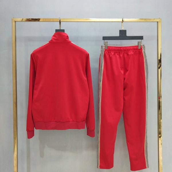 19FW Luxo Europeu Sportswear Agasalho Fita Bordado Imprimir Logotipo Terno Fino Mulheres Fato de Treino Dos Homens Designer HFKYTZ001