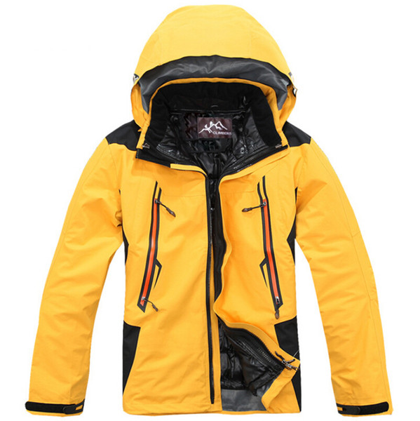 Outdoor Jackets autumn and winter men's three-in-one two-piece outdoor thick warm windproof waterproof mountaineering ski suit