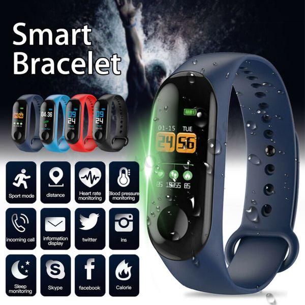 Fabrika Mağaza Akıllı Watch Band Bilezik Bileklik Spor Izci Kan Basıncı Nabız M3 Smartwatch Drop Shipping