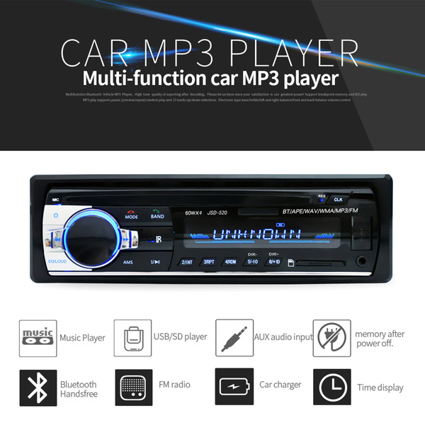 Bluetooth Car Stereo Audio FM Aux Input Receiver USB MP3 Radio Player Charger