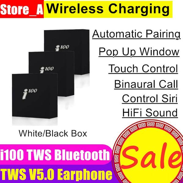 I100 tws Hava 2 mini Bluetooth Kulaklık PK W1 H1 Sensörü kontrolü Kulaklık Wirless şarj PK i60 i80 i60 i200 tws