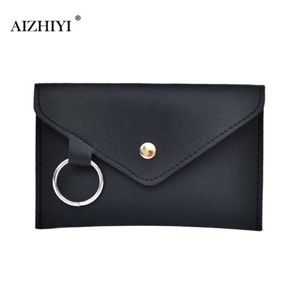 Women Simple PU Leather Waist Pack Pure Color Envelope Soft Casual Belt Bag Multifunction Portable Chest Bag Girls Fanny Pack
