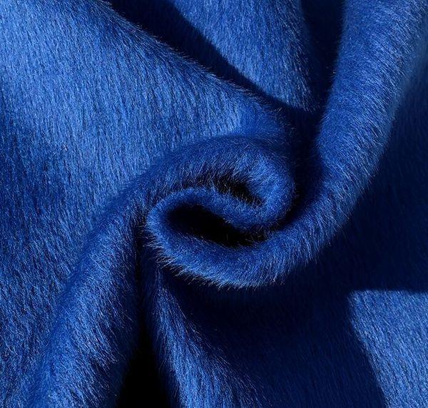 150cm Bleu épaissie tricot tissu de laine de cachemire épais manteau de robe de Noël d'impression super textiles hollandais sequin tissu diy C980