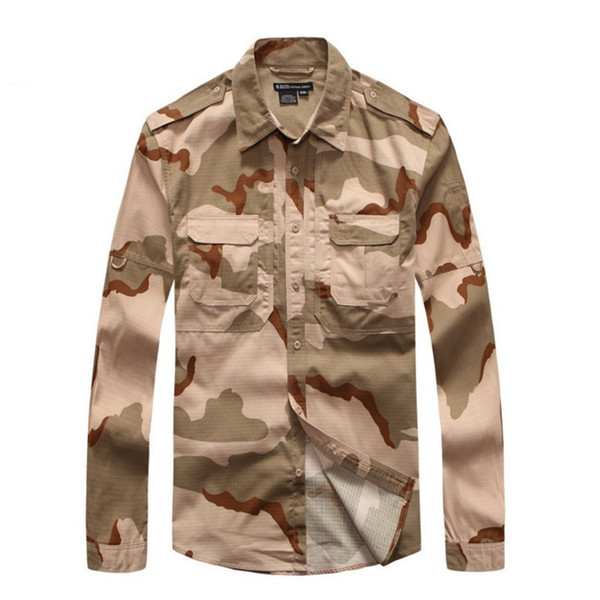 Outdoor Sports Mesh Breathable Mens Camo Shirt Army Fans Training Hiking Camping Climbing Wearproof Plaid Cloth Tactical Tops