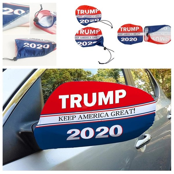best selling U.S. President Trump Election Car Mirror Cover Elastic Cloth Cover Car Decoration Tool Car Rearview Mirror Protective Cloth Cover T3I5062