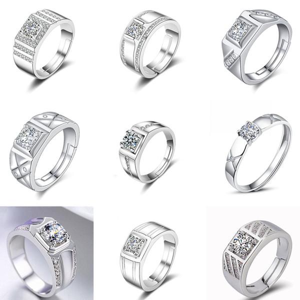 Mode Zirkonia Ringe Qualität Kristall CZ Diamant Ringe Verlobungsring Braut Hochzeit Ringe Für Frauen Damen Schmuck Liebhaber Geschenk