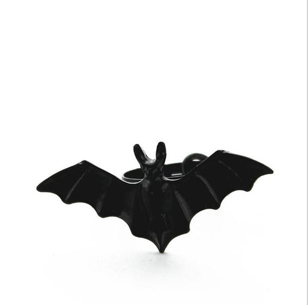 Новый Панк Черный Bat Сплав Кольцо Винтаж Регулируемая Bat Кольца Модные Милые Ювелирные Изделия Кольца Для Женщин