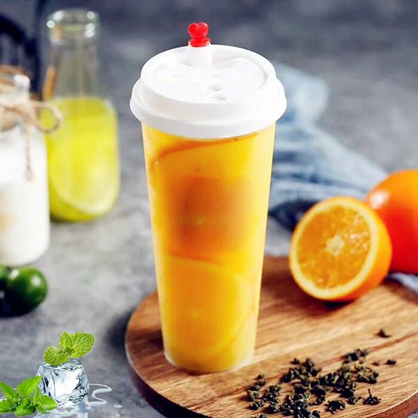 700мл одноразовые пластиковые стаканчики сгущают Injection жаропрочного молока чашки чая прозрачных Горячих напитки соки кружка кофе FFA2298-1