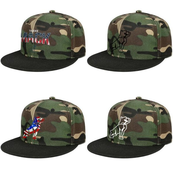 Custom Unisex ball hat Mack Trucks American flag Vintage old Snapbacks camouflage Flat Brimmed Hip Hop caps Travel visor Outdoor dog car